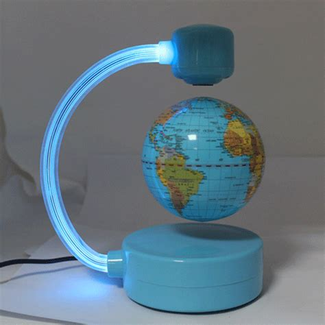 Floating Magnetic Desk by Magnetic Levitation Floating World Globe Desk Light Ebay