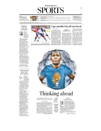 washington post sports section here s the cover for the washington post sports section