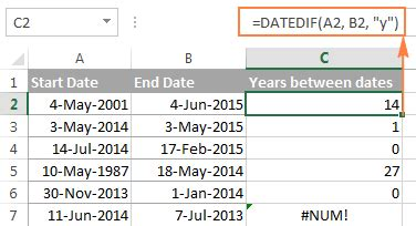 Calendar Calculator Weeks Between Two Dates Excel Datedif Calculating Date Difference In Days Weeks