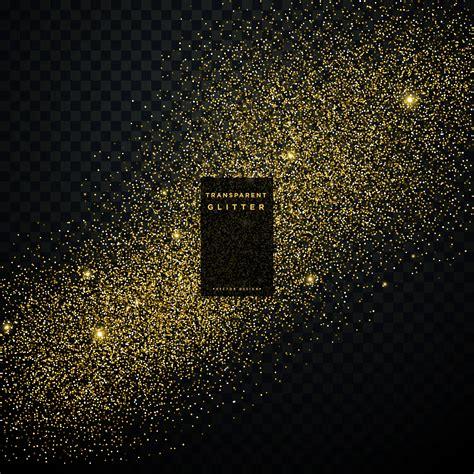 transparent background gold glitter confetti explosion on black transparent