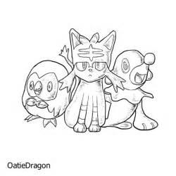 pokemon sun and moon starters by oatigon on deviantart