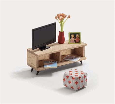 modern house furniture mini modern 1 16 djeco dollhouse is throwback modern cuteness