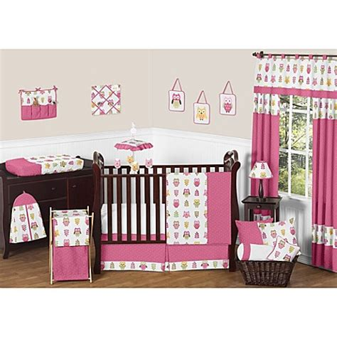 Sweet Jojo Designs Happy Owl Crib Bedding Collection In Baby Owl Crib Bedding Sets