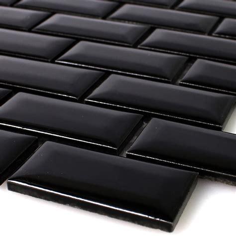 keramikfliesen muster muster keramik metro mosaik fliesen mit facette schwarz