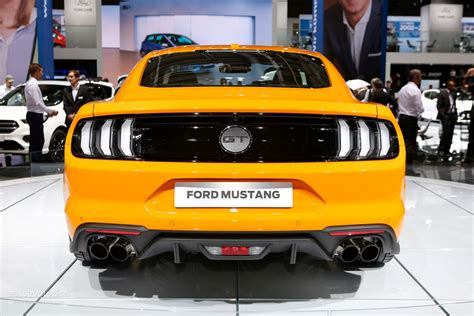 ford mustang clothes 2018 ford mustang facelift puts on its european clothes in
