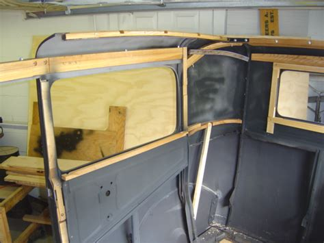 Upholstery Installation by 1931 Ford Coupe Top Wood Kit Autos Post