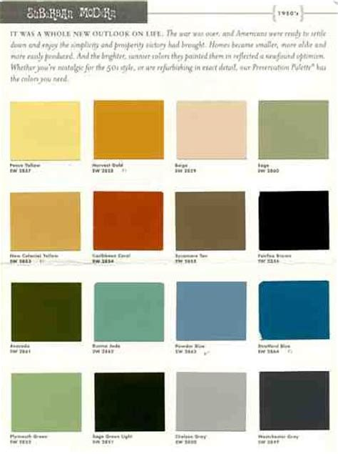 50 s color scheme sherwin williams suburban modern paint colors 1 for 50s