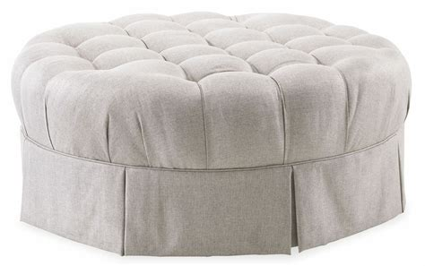 grey tufted ottoman ava grey round tufted top ottoman from art 513524 5001aa