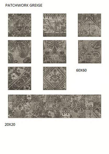 decoro casa decoro patchwork greige 60x60 pavone casa arredamento