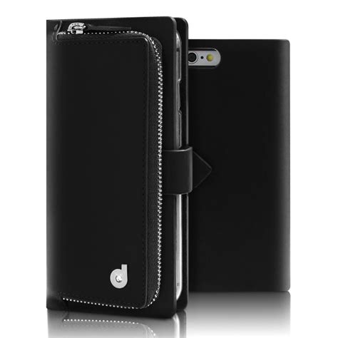 Leather Jacket Comby Black drelus combo jacket leather wallet for iphone 6 s