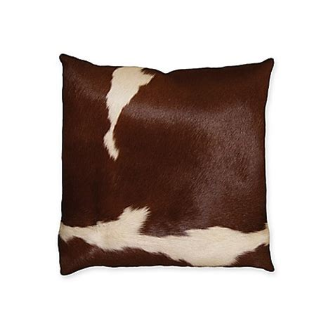 Cowhide Pillow - torino cowhide square throw pillow bed bath beyond