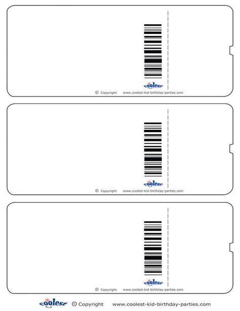 Blank Ticket Template Mughals Customizable Pass Template