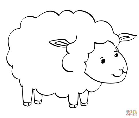 sheep coloring page sheep coloring page free printable coloring pages