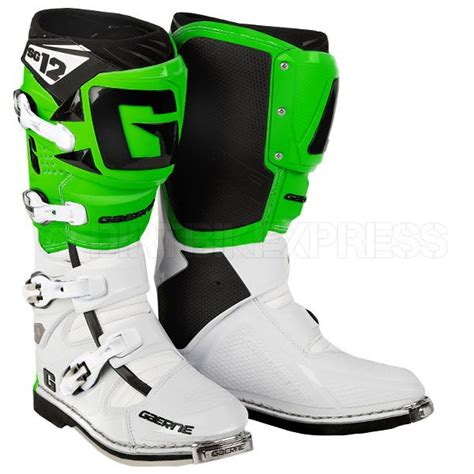 green dirt bike boots gaerne sg12 boots white green moto pinterest