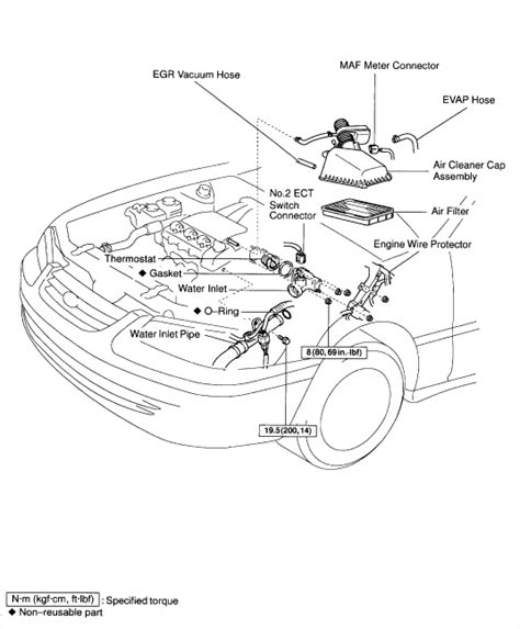 toyota camry thermostat location get free image about