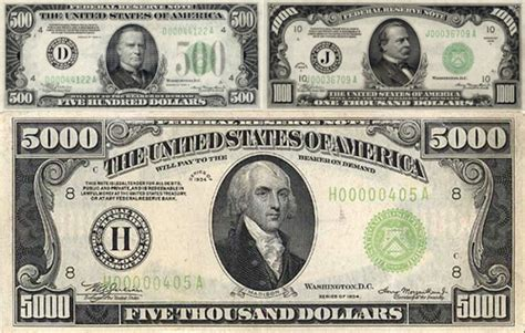How Do They Make Paper Money - a 100 000 bill the story large denomination