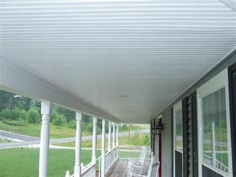 exterior beadboard ceiling using vinyl beadboard soffit for porch ceilings is a great