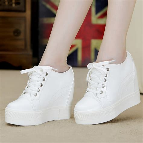 sneakers with a heel white wedge heel sneakers is heel