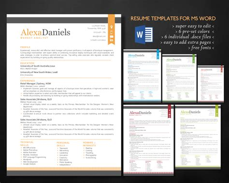 3 In 1 Spot Template Pack 3 in 1 modern word resume pack resume templates on creative market