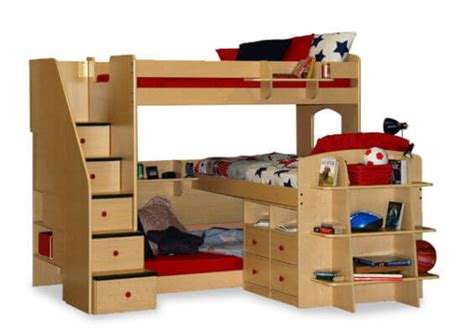 Bunk Bed For Three 24 Designs Of Bunk Beds With Steps These