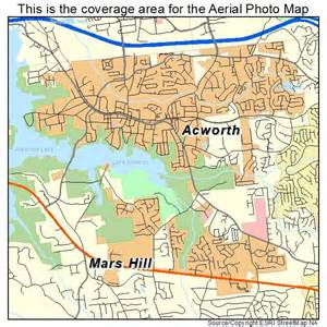aerial photography map of acworth ga