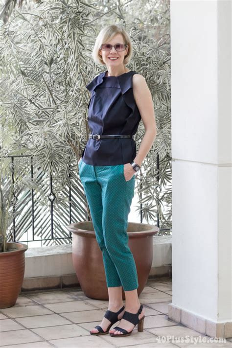 trend watch patterned pants how to wear printed pants in a casual chic way
