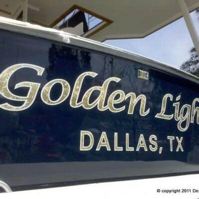 boat lettering graphic design gold leaf boat names installed by designs signs