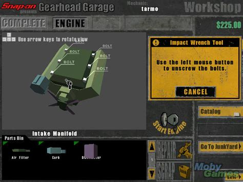 Gearhead Garage 2 snap on presents gearhead garage the mechanic windows my abandonware
