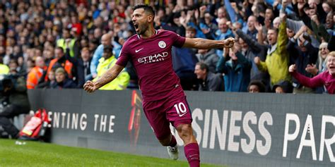 Hit The Thrice by Premier League Sergio Aguero Scores Thrice As Manchester