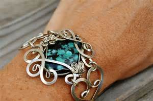 Material For Jewelry Making - wire wrap bracelet with blue turquoise stone by hyppiechic on deviantart