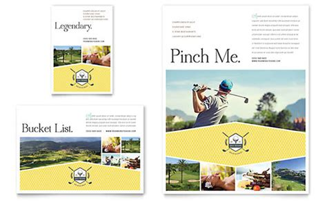Golf Resort Newsletter Template Design Golf Newsletter Templates