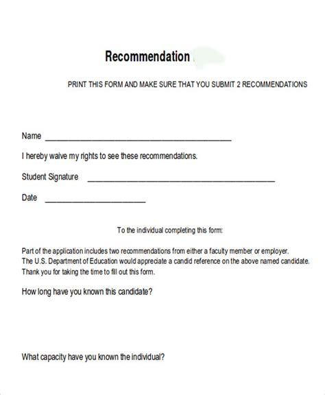 Mba Waive Recommendation by 8 Sle Internship Recommendation Letter Free Sle