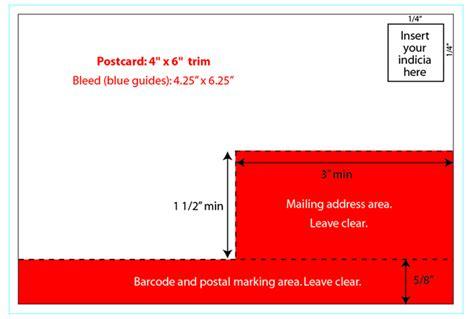 Us Printing Postal Regulations 4x6 Postcard Template