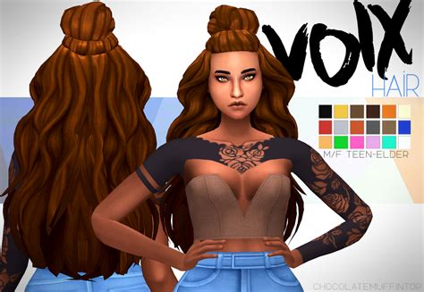 sims 4 maxis match hair my sims 4 blog voix hair by chocolatemuffintop