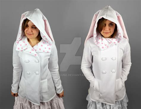 Jaket Rabbit Hodie mod jacket hoodie with rabbit ears by sewdesune on