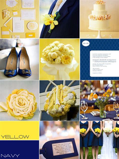 navy yellow wedding colour palettes navy yellow