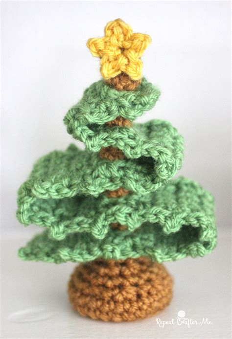 3d crochet christmas tree repeat crafter me