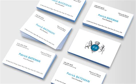 american psycho business card template bateman luxe business cards