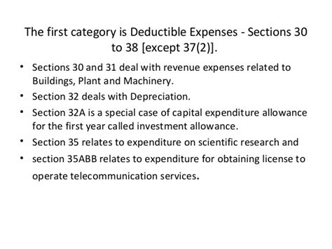 Income Tax Act Section 37 by Tax Presentation Business Income