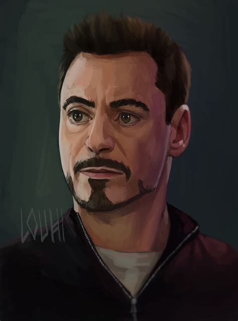 Tony Stark tony stark by louhiart on deviantart