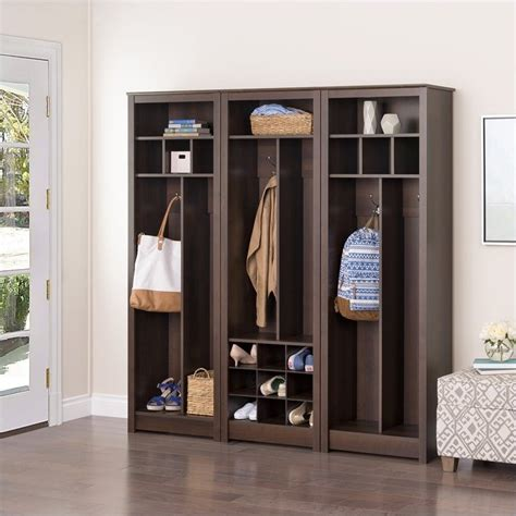 Entryway Wall Tree Entryway 3 Wall Organizer In Espresso Esoh 0009 1
