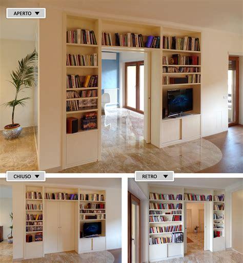 libreria divisoria bifacciale foto librerie divisorie in legno su misura