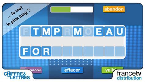 anagramma lettere des chiffres et des lettres officiel dans l app store