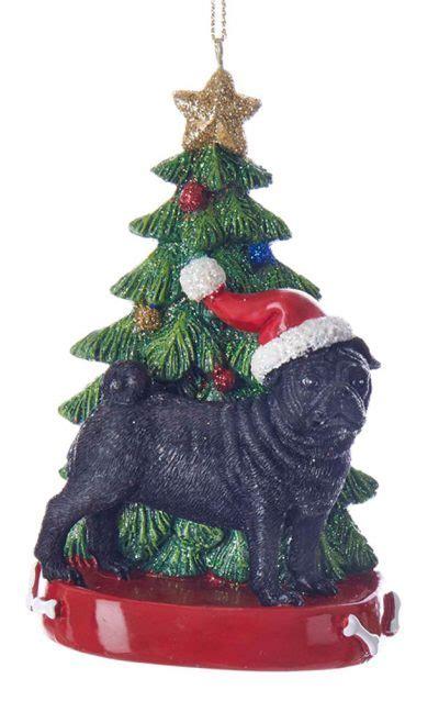 pug christmas tree pug tree ornament black