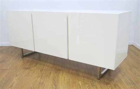 white credenza modern white lacquered credenza buffet dresser by