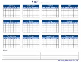 blank yearly calendar template 2017 printable calendar