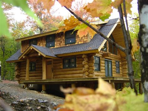 Pine Log Cabin made for maine rustic eastern white pine log cabin