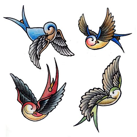 old school swallow tattoo designs swallows design by gabchik on deviantart