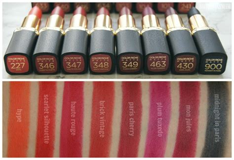 Lipstick Matte Xi Xiu Lipnicure safiyah tasneem sunday swatches l oreal matte addiction lipsticks