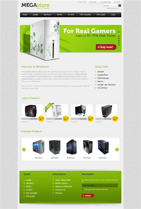 Free Ecommerce Website Css Template For Software And Hardware Website Css Templates Ecommerce Website Templates Free Html With Css